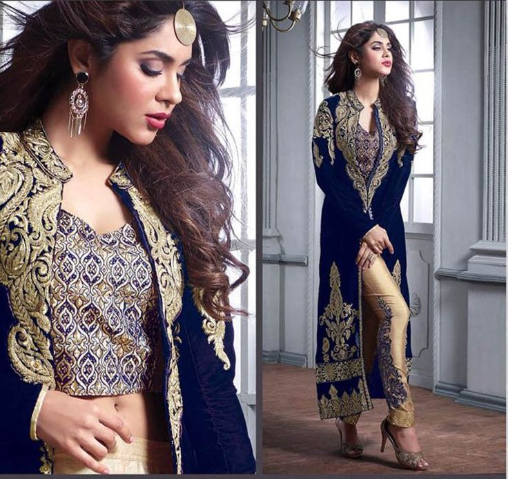 Anarkali Salwar Kameez Shalwar Indian Bollywood Party Wear Velvet Dress Material #Shoppingover #SalwarKameez