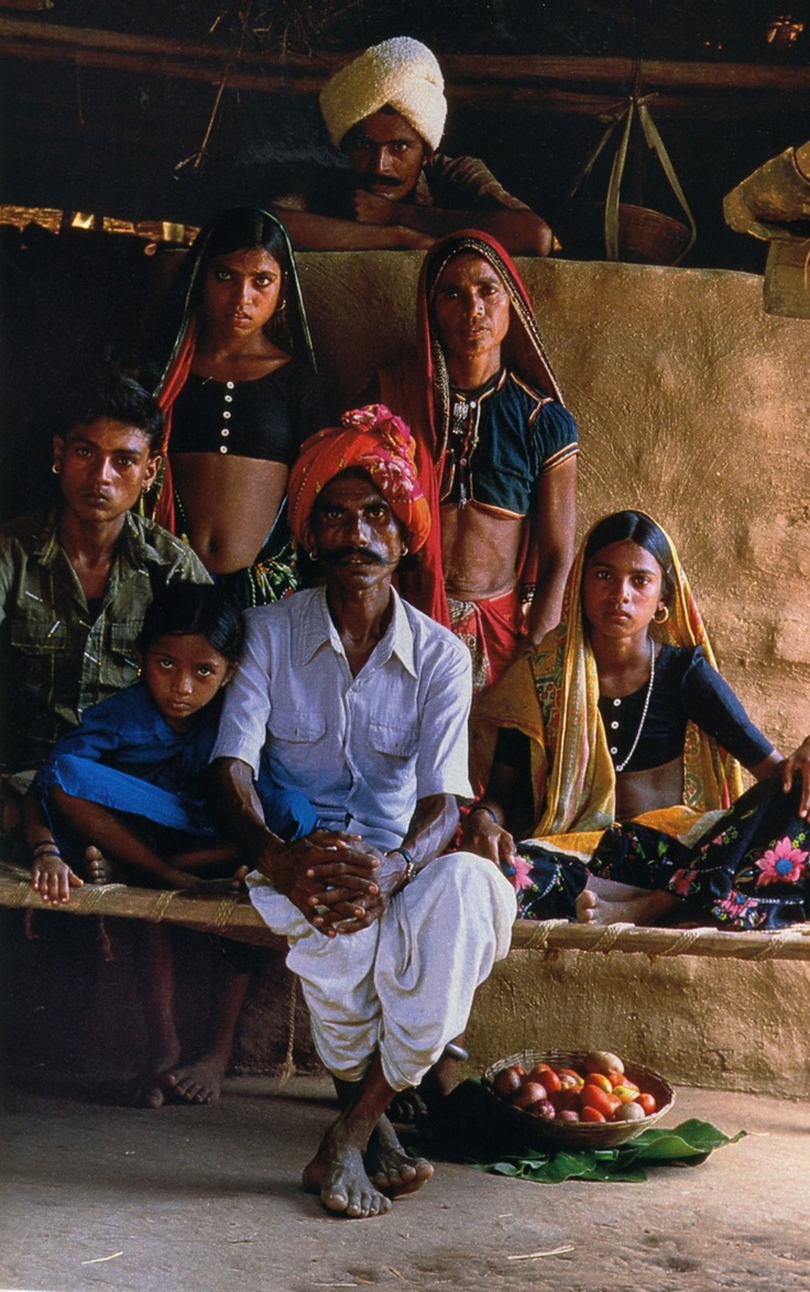 Indian family in rural India. Why not fly to India in search of your ancestral identity?