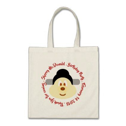 #party - #Chinese Male Hat 鮑 鮑 Birthday Souvenir Tote Bag 3