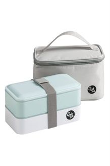 Sac isotherme et lunch box<BR>13 x 21 x 13 cm