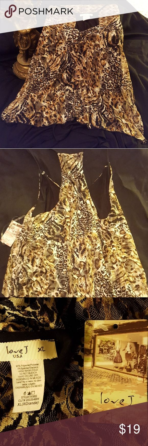 NWT Strappy Top Flowy animal print top Lightweight and flattering Tops