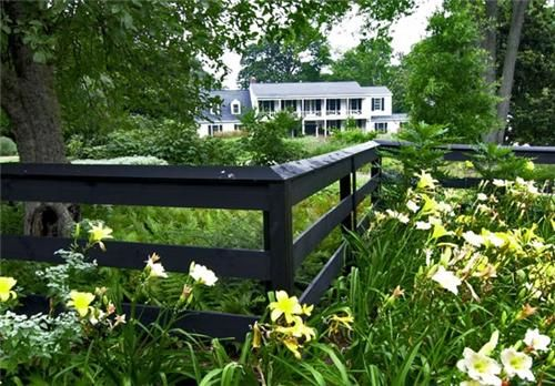 Black Fence  Gates and Fencing  Walnut Hill Landscape Company  Annapolis, MD