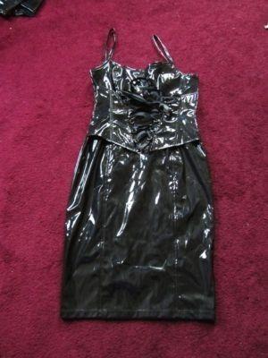 "LIP SERVICE Patent Vinyl And Vegi Leather Classics ""Skin Tight"" dress #38-492"