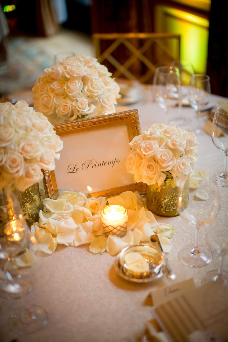 Soft candlelight, gold accents, elegant cream roses, and fresh rose petals are a beautiful combination. Roses and fresh rose petals are available year-round at GrowersBox.com!: Galleries, White Rose Centerpieces, Centerpieces Gold, Rose Bouquet, Gold Centerpieces, Gold Accent, Flowers Candles Decor, Centerpieces Photography, Cream Rose