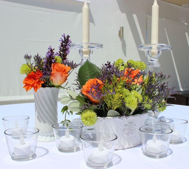 Vintage vases but funky florals!