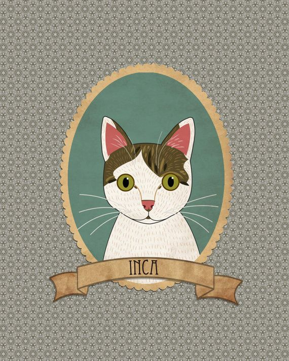 Personalized cat art items for cat lovers