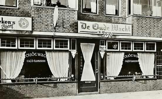 Cafe De Oude Wacht Groningen jaren 50