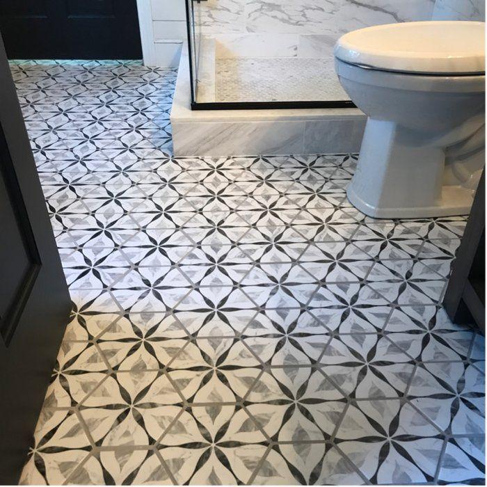 Karra 7 X 8 Porcelain Patterned Wall Floor Tile Tile Bathroom Bathroom Flooring Flooring