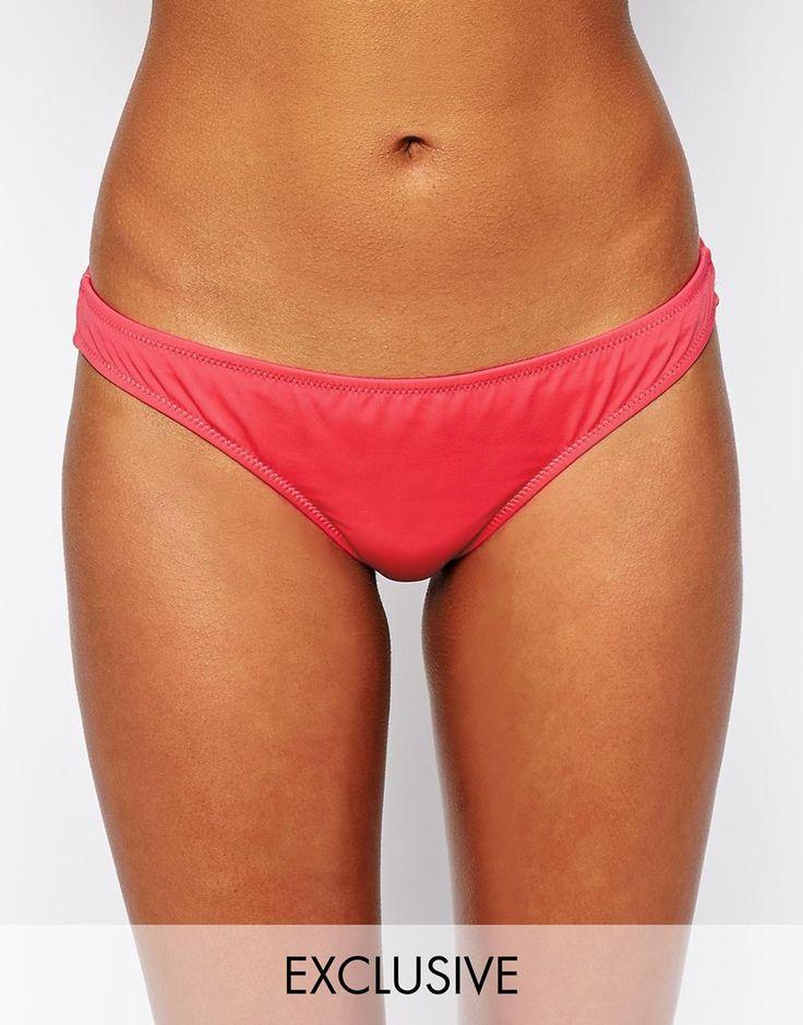 Bikinihose von ASOS Collection Stretchmaterial für Bademode tief sitzender Hüftstil brasilianischer Schnitt Handwäsche 80% Polyamid, 20% Elastan