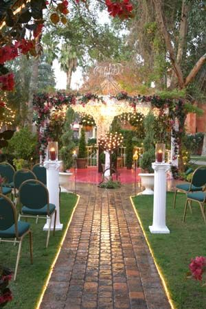 This is where Chad and I are getting married, with white roses strewn down the aisle. So excited!