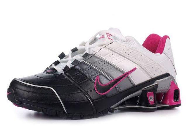Chaussures nike shox nz noir blanc rose nike 12072 - Placard a chaussure pas cher ...
