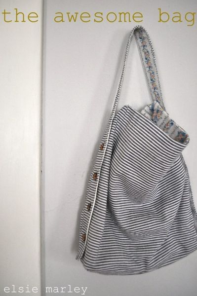 Craft : Ten Favourite Weekend Craft Projects  The Awesome Bag via Elsie Marley