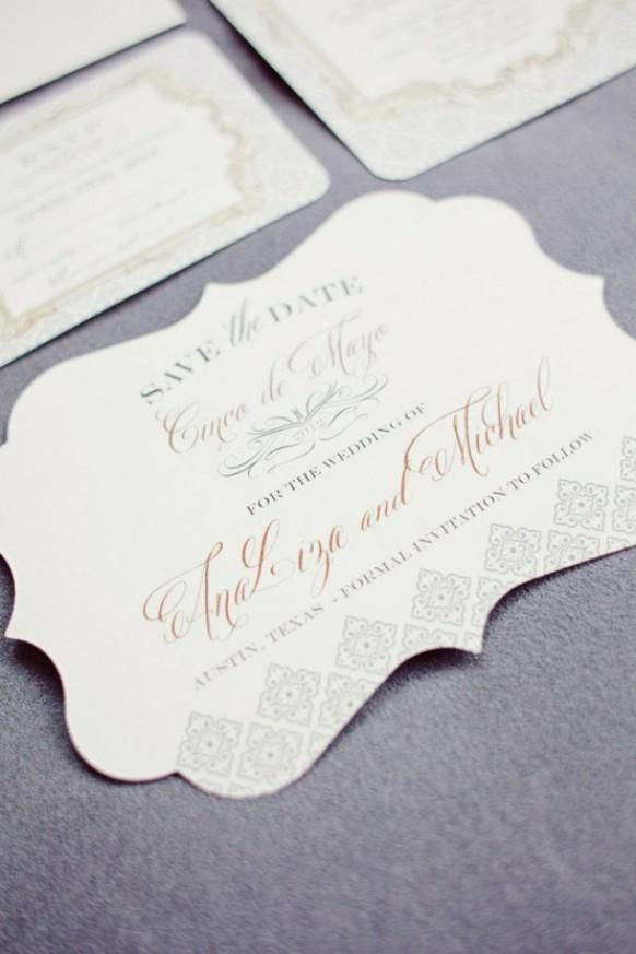 custom wedding invitations nashville%0A elegant invitation suite for this Cinco de Mayo affair Photography by Ideas  Wedding