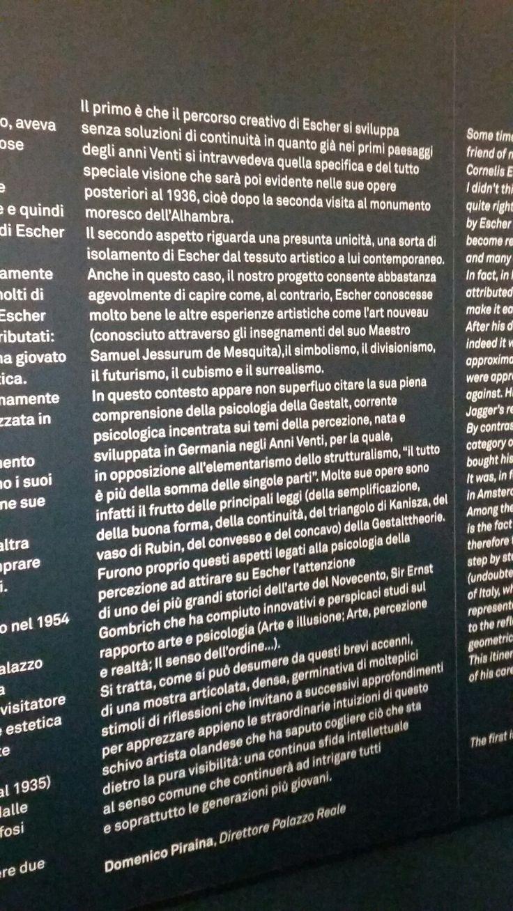 Mostra Escher a Palazzo Reale a Milano, visita personale del 27 ottobre 2016. Sperimentazioni artistiche e novità nell'approccio psicologico-percettivo all'opera