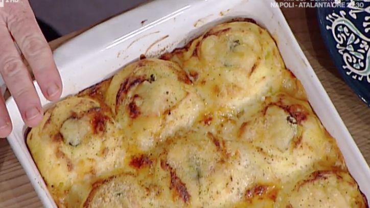 La ricetta di Luisanna Messeri degli gnocchi di semolino ripieni a La prova del cuoco 2 gennaio 2018