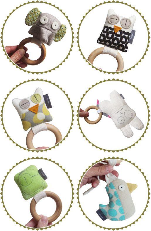 Anillos hechos a mano del bebé dentición por Mimishop
