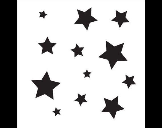 """Little Stars Stencil- 6"""" x 6"""" - by StudioR12 -STCL482"""