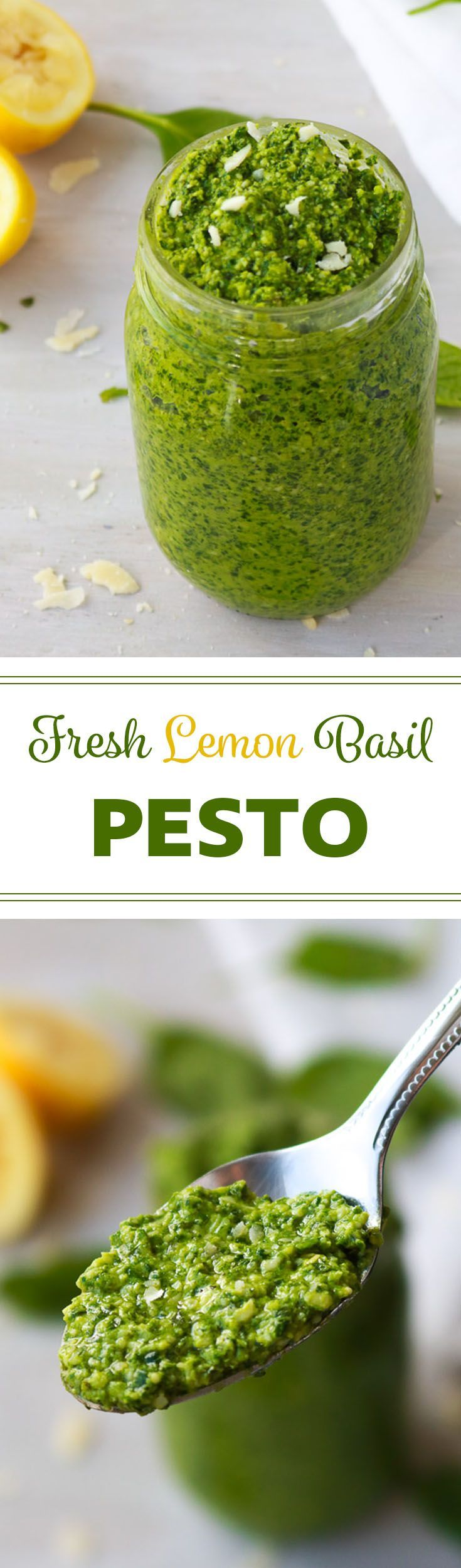Fresh Lemon Basil Pesto | It just takes a few minutes to make yourself this fresh pesto bursting with outrageously delicious flavour.