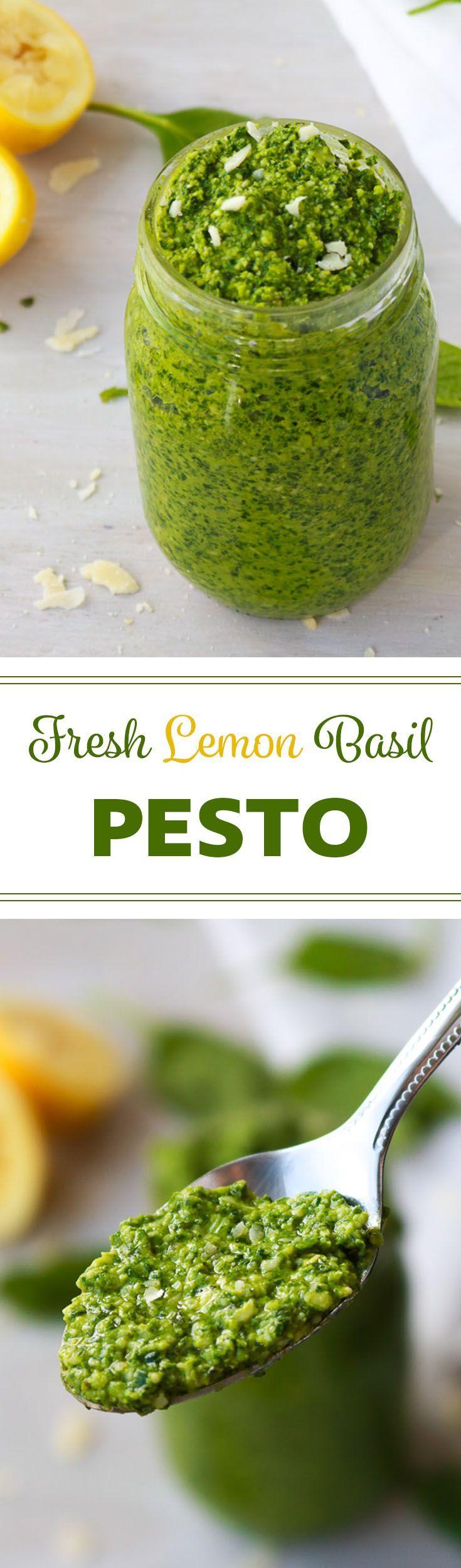 Fresh Lemon Basil Pesto   It just takes a few minutes to make yourself this fresh pesto bursting with outrageously delicious flavour.
