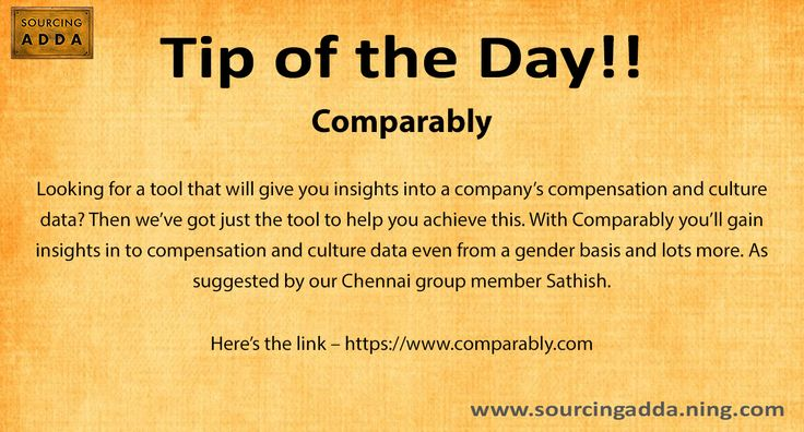 #Sourcingtip Today's tip of the day!! https://www.comparably.com/ #Sourcing #TalentAcquisition