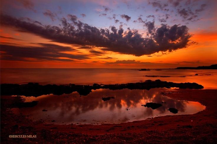 Sunset at Pantokratoras beach, Preveza, Epirus, Greece