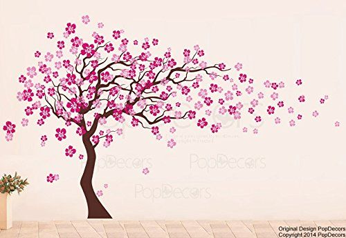 PopDecors - Cherry Blossom Tree (83inch H) - Custom Beautiful Tree Wall Decals for Kids Rooms Teen Girls Boys Wallpaper Murals Sticker Wall Stickers Nursery Decor Nursery Decals Pop Decors http://www.amazon.com/dp/B009RRU5P2/ref=cm_sw_r_pi_dp_jR26tb1FWJPEA