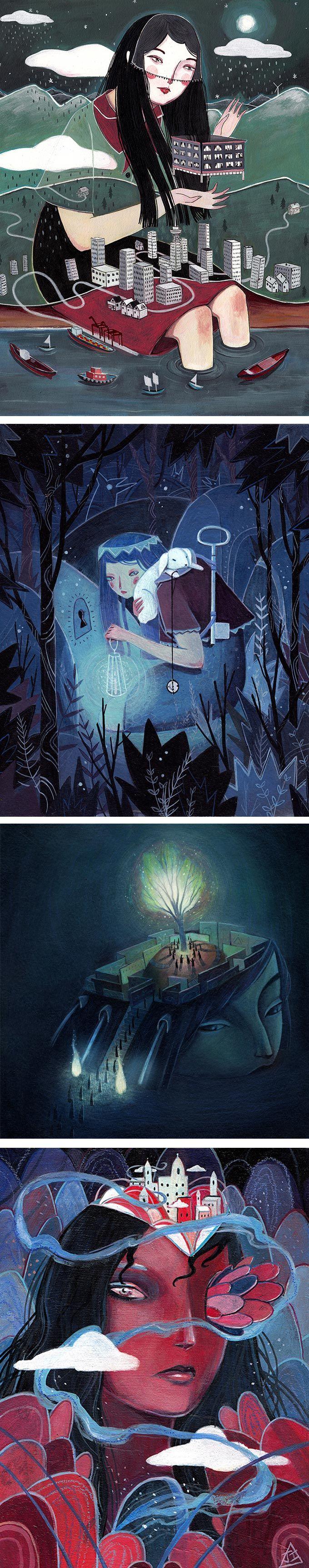 Julia Iredale   surreal illustration   illustrations of women   fairy tale art