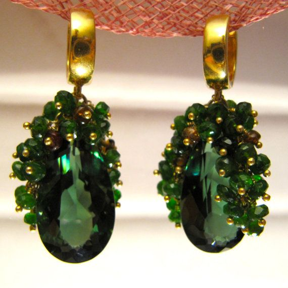 Emerald green amethyst chrome diopside by MariaCossuttaMonaco, €250.00