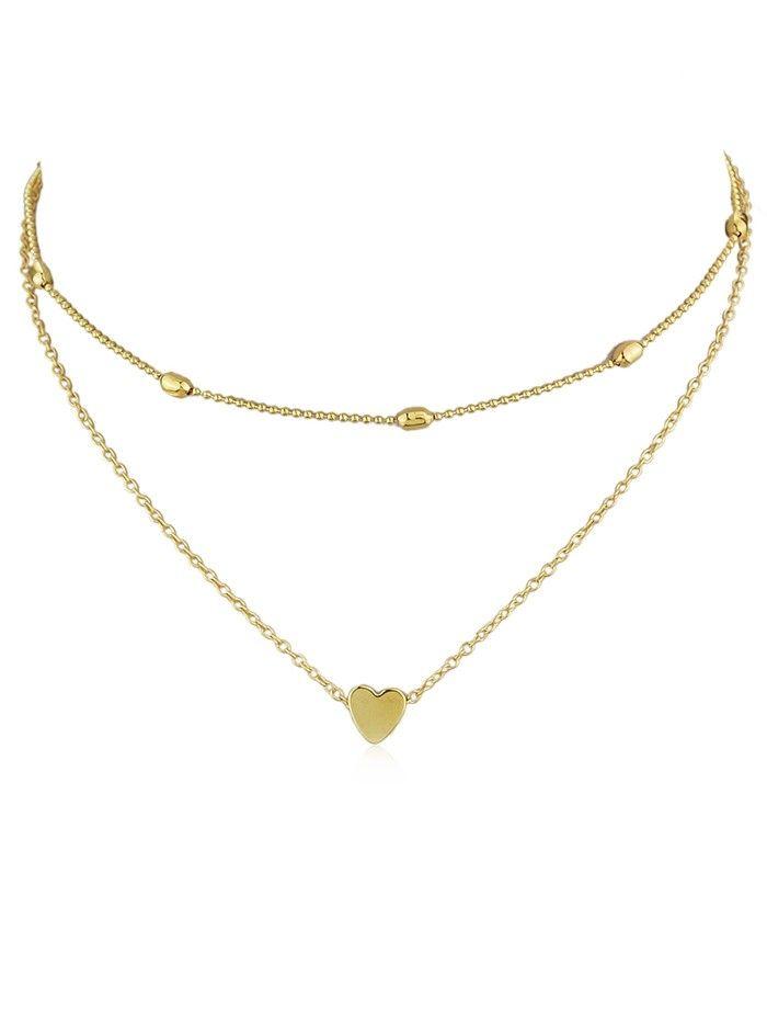 NE/_ Women Unique Design Fashion Double Layers Alloy Faux Pearl Long Chain Neck
