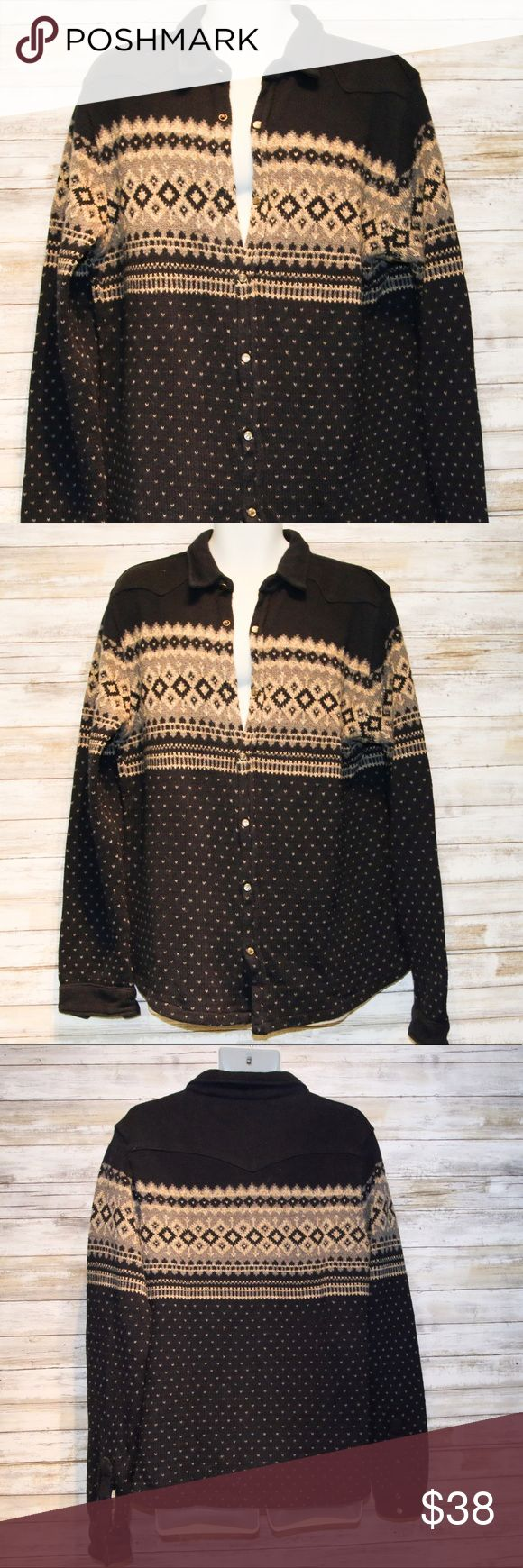 Scotch & Soda navy men's wool sweater sz XL Scotch & Soda men's navy wool sweater  sz XL  LAST PIC SHOWS A SNAPIS MISSING PREVIOUSLY WORN Scotch & Soda Sweaters