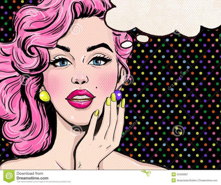 Ilustração Do Pop Art Da Menina Com A Bolha Do Discurso Menina Do Pop Art Convite Do Partido - Baixe conteúdos de Alta Qualidade entre mais de 59 Milhões de Fotos de Stock, Imagens e Vectores. Registe-se GRATUITAMENTE hoje. Imagem: 53409387