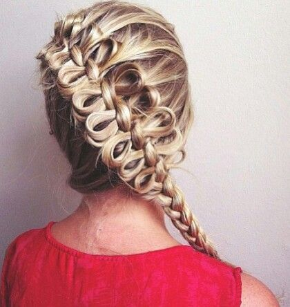 Bow braids are a thing apparently. I wouldn't do a ton in a row like that, but one or two in a normal braid would be so neat @Shea Fenton