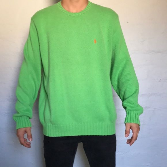Shop Men's Polo by Ralph Lauren Green size L Sweaters at a discounted price at Poshmark. Description: Clean Green Polo sweater with no holes or stains Trying to hook someone up with a dope sweater Don't want it in Great Condition. Sold by krispyclothing. Fast delivery, full service customer support.