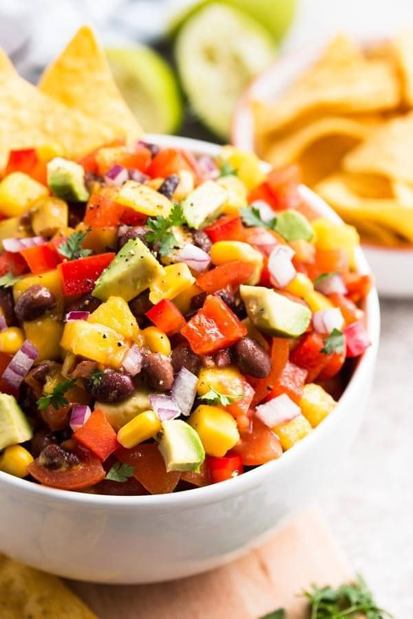Avocado, Mango & Black Bean Salsa Recipe. This easy Avocado, Mango & Black Bean Salsa is full of fresh and healthy vegetables and whips up in no time.
