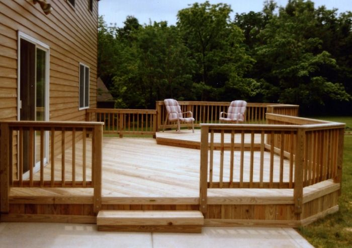 A Nice Multilevel Deck With A Raised Octagon Wood Decks