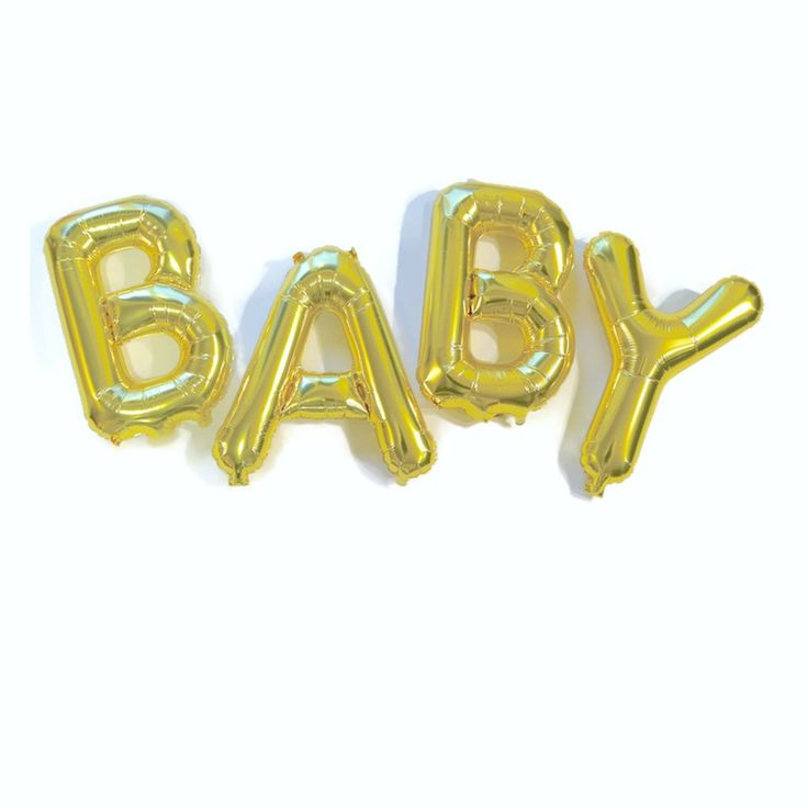 These gold foil 16 inch BABY balloons is will put the finishing touch on your party celebration! Excellent baby shower decoration OR announce to your family and friends you are expecting with these sp