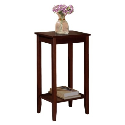 Tall End Table - Brown Rosewood. Maybe this would be better for the dining area??