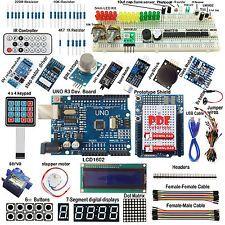 Ultimate uno R3 Starter Kit Para Arduino teclado RTC 1602LCD Servo Motor Relé de gas