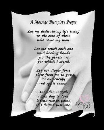 Massage Therapistu0027s Prayer.