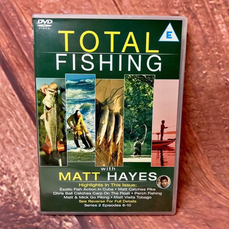Total Fishing Matt Hayes Dvd Series 2 Episodes 8-10 Trout Lure Carp Float Perch