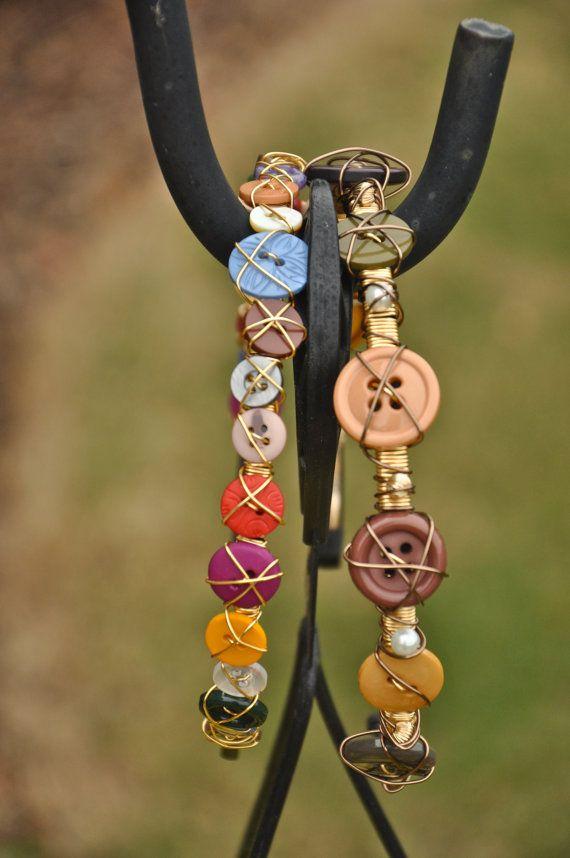 Multi-colored button headbands by {ar.lo}! www.ar-lo.com