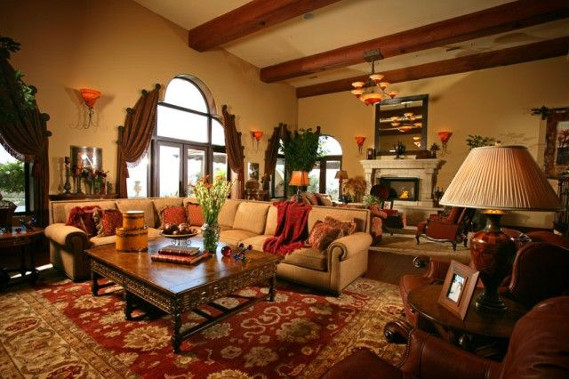 Spanish Style Home By James Glower Interior Living Room