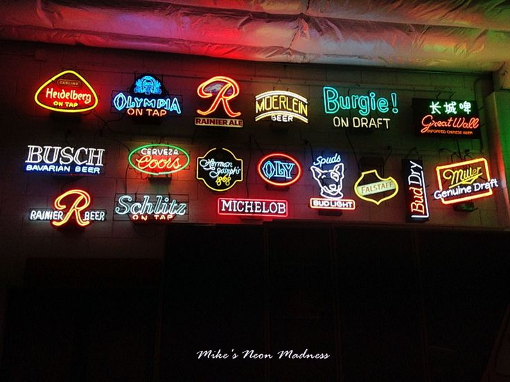 Vintage Neon Beer Signs Gorgeous 12 Best Neon Signs Images On Pinterest  Cornhole Set Neon Bar Review