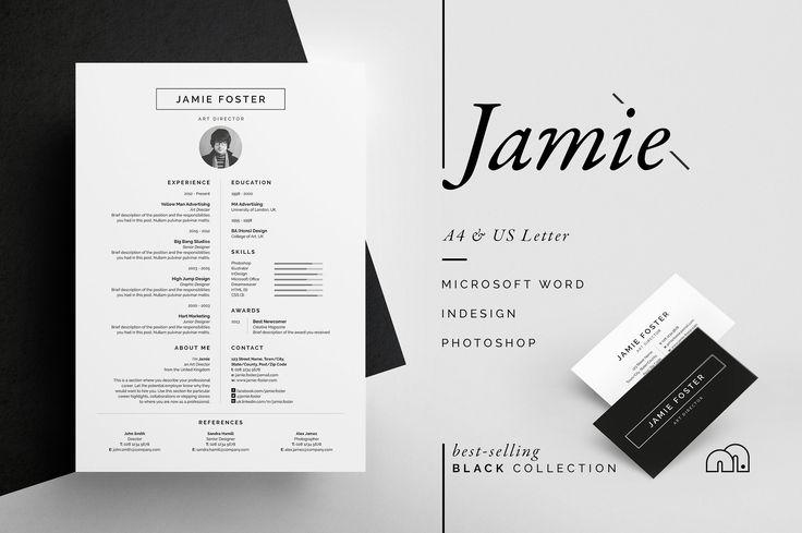 Resume/CV - Jamie by bilmaw creative on @creativemarket