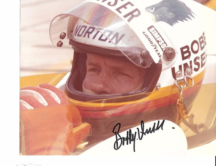 This 8 x 10 color photograph was taken at Indianapolis in May 1981. It has been autographed by Bobby Unser, 3 time Indy 500 winner. This 1981 eventful Indy 500 had Bobby crossing the finish line first, being penalized, Mario Andretti named winner and then those results reversed after appeals. | eBay!