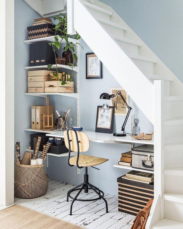 aménager sous escalier bureau crémaillère