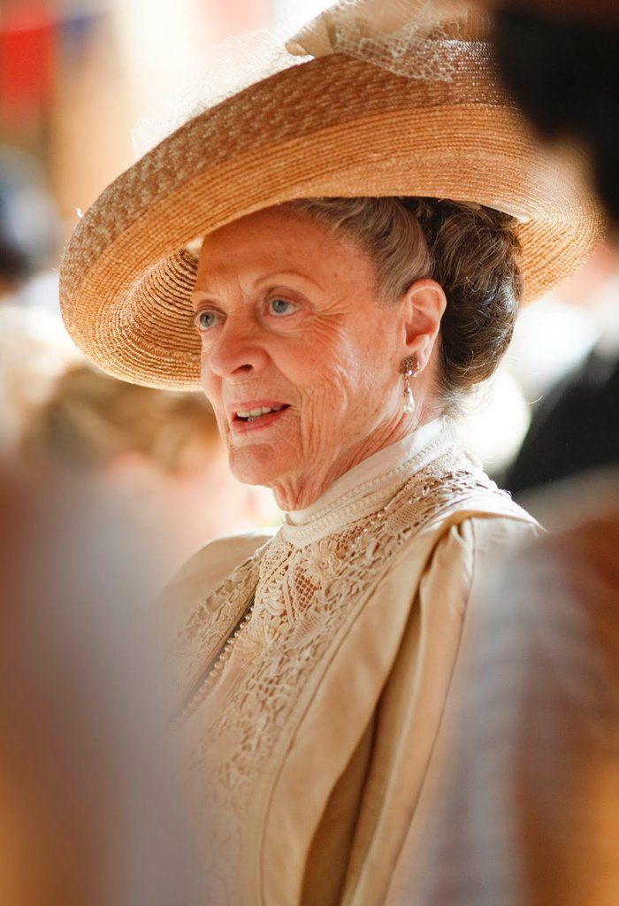 """Sybil Crawley: """"No one ever learned anything from a governess except for French, and how to curtsy.""""  Lady Violet: """"What more do you need?"""""""