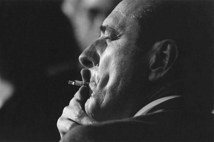 Jacques Chirac, Paris, March 1988. ©Jean-Claude Coutausse
