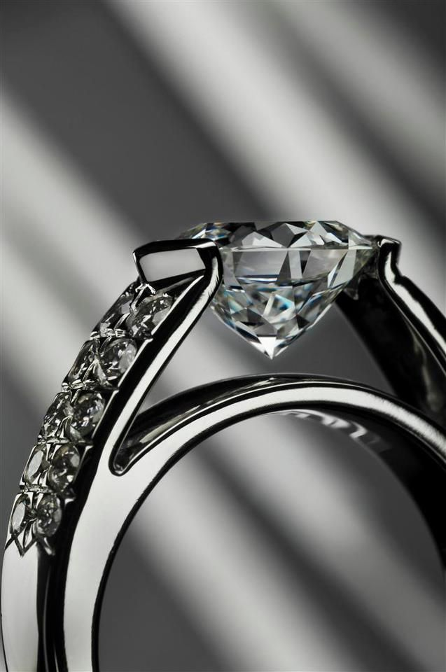 Meteor CutR Engagement Ring Side View By Lili Jewelry At Lustig Jewelers