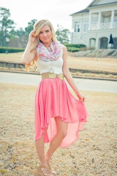 Summertime: Fashion, Summer Outfit, Style, High Low Skirts, Highlow, Dream Closet, Dress, Scarf